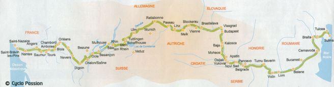 Le tracé de l'Eurovélo 6