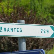 direction Nantes sur l'Eurovélo 6